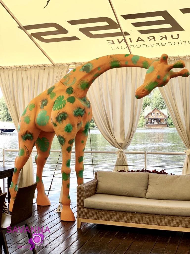 Жирафы принтованные